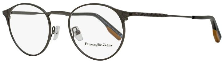 Ermenegildo Zegna Oval Eyeglasses EZ5123 008 Dark Gunmetal/Black 48mm 5123