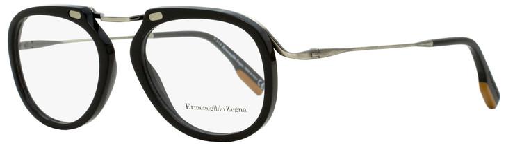 Ermenegildo Zegna Oval Eyeglasses EZ5124 001 Black/Ruthenium 50mm 5124