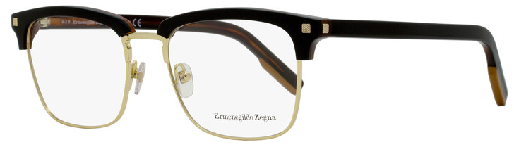 Ermenegildo Zegna Rectangular Eyeglasses EZ5139 005 Black/Havana/Gold 52mm 5139