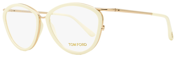 Tom Ford Butterfly Eyeglasses TF5247 083 Gold/Ivory 53mm FT5247