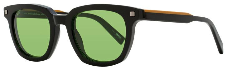 Ermenegildo Zegna Rectangular Sunglasses EZ0118 01N Black/Brown 50mm 0118