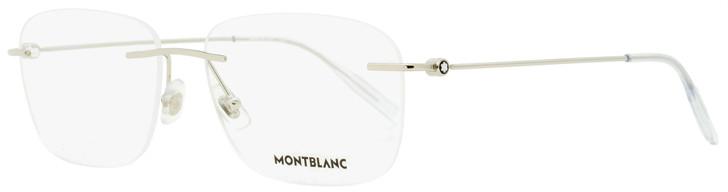 Montblanc Rimless Eyeglasses MB0075O 003 Silver/Transparent 56mm 0075