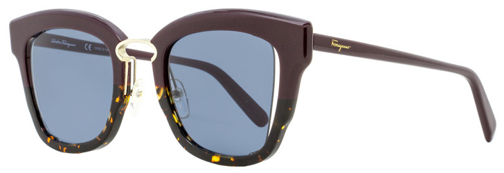 Salvatore Ferragamo Butterfly Sunglasses SF886S 520 Plum/Havana/Gold 24mm 886