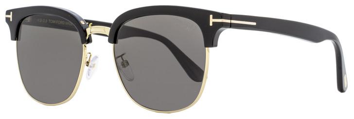 Tom Ford Rectangular Sunglasses TF544K 01D Black/Gold Polarized 20mm FT0544