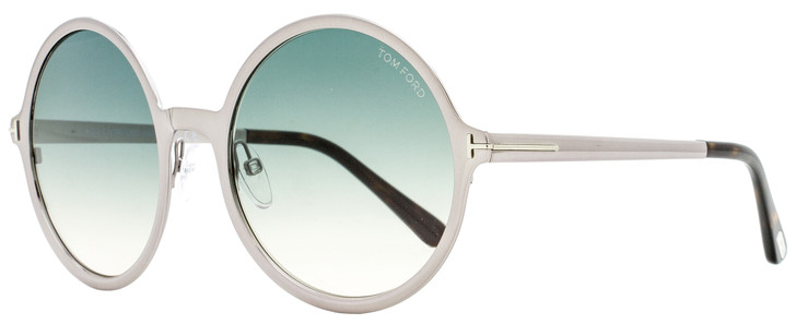 Tom Ford Round Sunglasses TF572 Ava-02 14W Ruthenium/Havana 21mm FT0572