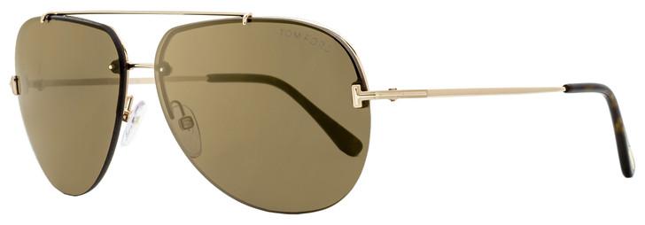Tom Ford Aviator Sunglasses TF584 Brad-02 28G Gold/Havana 12mm FT0584