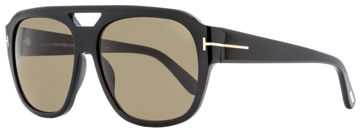 Tom Ford Square Sunglasses TF630 Bachardy-02 01J Shiny Black   15mm FT0630