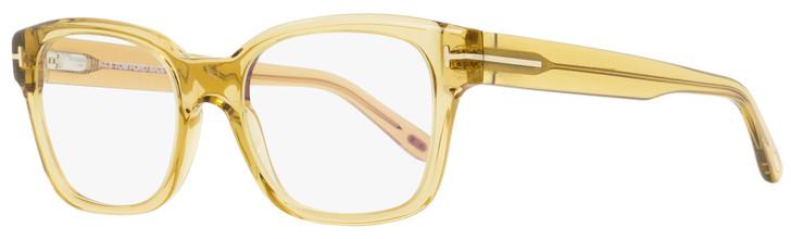 Tom Ford Rectangular Eyeglasses TF5535B 045 Transparent Champagne 54mm FT5535