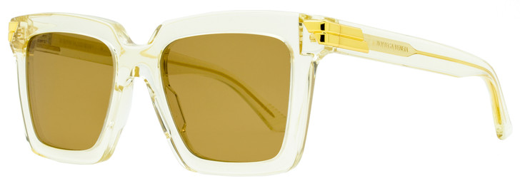 Bottega Veneta Square Sunglasses BV1005S 005 Transparent Beige 53mm 1005