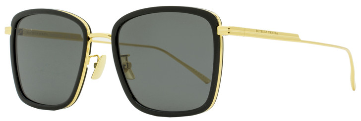 Bottega Veneta Square Sunglasses BV1008SK 001 Gold/Black 55mm 1008