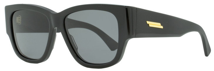 Bottega Veneta Rectangular Sunglasses BV1026S 001 Black 55mm 1026