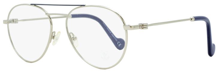 Moncler Oval Eyeglasses ML5023 016 Palladium/Dark Blue 54mm 5023