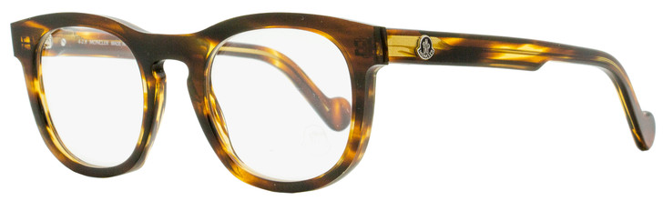 Moncler Oval Eyeglasses ML5040 055 Striped Havana 49mm 5040