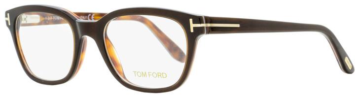 Tom Ford Rectangular Eyeglasses TF5207 047 Dark Brown/Havana 49mm FT5207