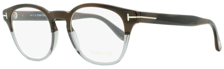Tom Ford Oval Eyeglasses TF5400 065 Brown Horn/Gray 48mm FT5400