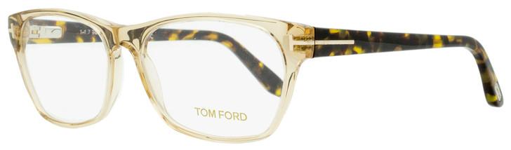 Tom Ford Rectangular Eyeglasses TF5405 045 Champagne/Yellow Havana 54mm FT5405