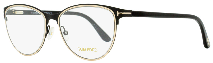 Tom Ford Oval Eyeglasses TF5420 005 Matte/Shiny Black/Gold 54mm FT5420