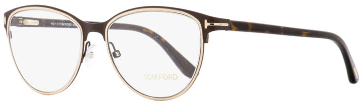 Tom Ford Oval Eyeglasses TF5420 049 Matte Brown/Havana 54mm FT5420