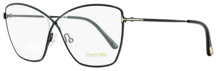 Tom Ford Butterfly Eyeglasses TF5518 001 Black 57mm FT5518