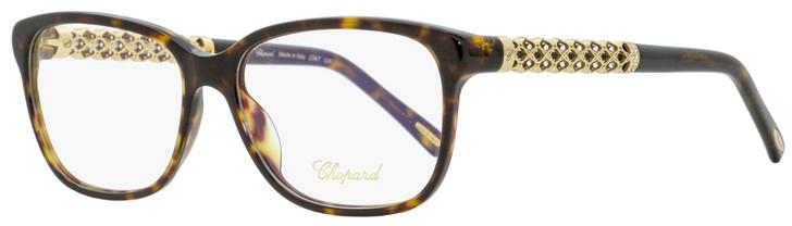 Chopard Rectangular Eyeglasses VCH181S 0722 Shiny Havana/Gold 53mm 181