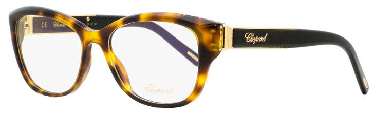 Chopard Oval Eyeglasses VCH197R 0748 Havana/Black/Gold 53mm 197