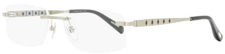 Chopard Rimless Eyeglasses VCHA99M 0Q39 Satin Palladium/Black 57mm A99