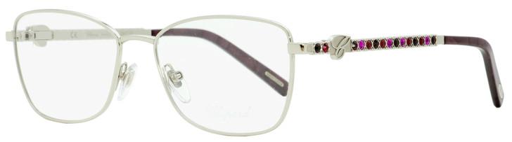 Chopard Rectangular Eyeglasses VCHB50S 589R Palladium/Violet Melange 53mm B50