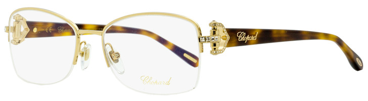Chopard Semi-Rimless Eyeglasses VCHB99S 300K Gold/Havana 55mm B99
