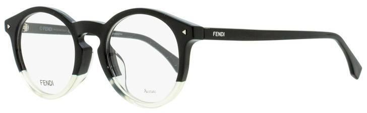 Fendi Oval Eyeglasses FF0236F 71C Black/Opal Crystal 49mm 236