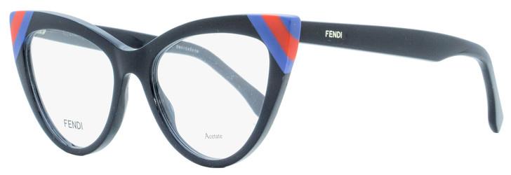 Fendi Cateye Eyeglasses FF0245 PJP Navy/Blue/Red 51mm 245
