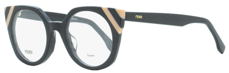 Fendi Square Eyeglasses FF0246 KB7 Dark Gray/Salmon 48mm 246
