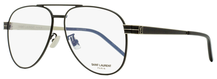 Saint Laurent Pilot Eyeglasses SL M54 001 Matte Black/Gold 56mm YSL