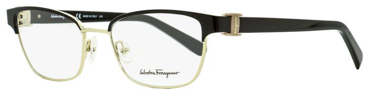 Salvatore Ferragamo Rectangular Eyeglasses SF2148 001 Black/Gold 52mm 2148