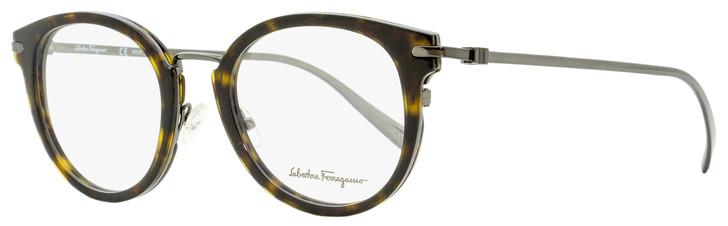 Salvatore Ferragamo Oval Eyeglasses SF2782 273 Dark Tortiose/Gunmetal 50mm 2782