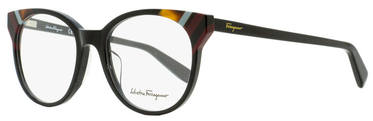 Salvatore Ferragamo Oval Eyeglasses SF2796 001 Black 52mm 2796