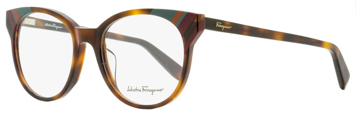 Salvatore Ferragamo Oval Eyeglasses SF2796 214 Havana 52mm 2796