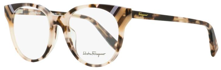 Salvatore Ferragamo Oval Eyeglasses SF2796 219 Rose Havana 52mm 2796