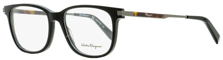 Salvatore Ferragamo Rectangular Eyeglasses SF2803 001 Black/Gunmetal/Havana 54mm 2803