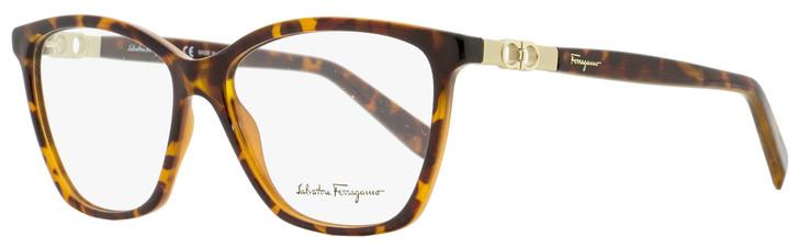 Salvatore Ferragamo Square Eyeglasses SF2814 214 Tortiose 55mm 2814