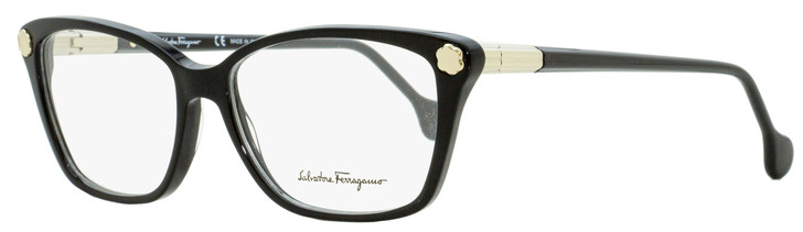 Salvatore Ferragamo Rectangular Eyeglasses SF2824 001 Black/Light Gold 54mm 2824