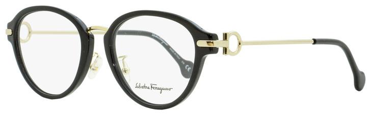 Salvatore Ferragamo Oval Eyeglasses SF2826 001 Black/Gold 51mm 2826