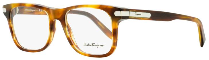 Salvatore Ferragamo Rectangular Eyeglasses SF2829 214 Tortiose/Palladium 53mm 2829