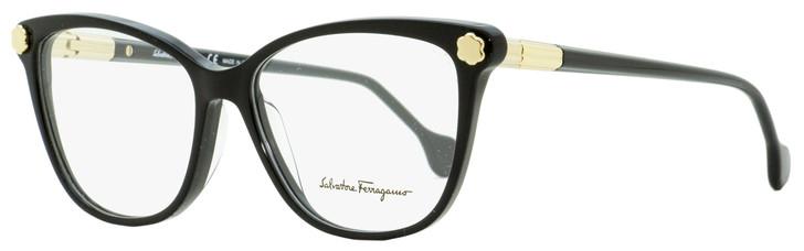 Salvatore Ferragamo Butterfly Eyeglasses SF2838 001 Black/Gold 53mm 2838