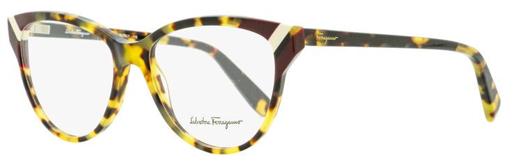 Salvatore Ferragamo Cateye Eyeglasses SF2844 281 Vintage Tortiose 54mm 2844