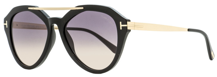 Tom Ford Butterfly Sunglasses TF576 Lisa-02 01B Black/Gold 54mm FT0576
