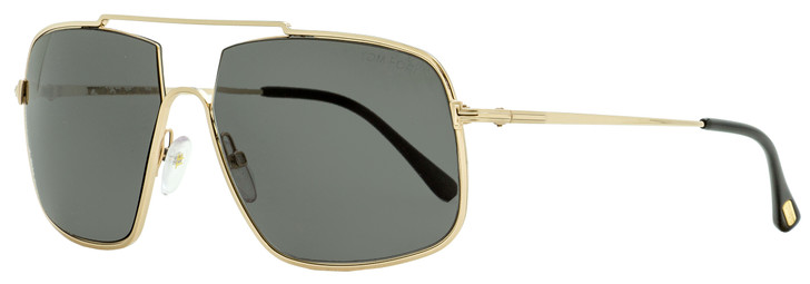 Tom Ford Pilot Sunglasses TF585 Aiden-02 28A Gold/Black 60mm FT0585