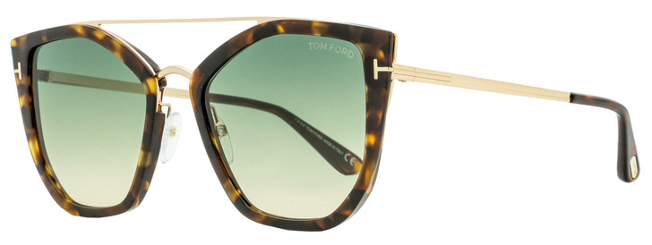 Tom Ford Butterfly Sunglasses TF648 Dahlia-02 56P Havana/Gold 55mm FT0648