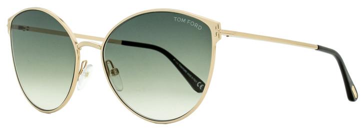 Tom Ford Cateye Sunglasses TF654 Zeila 28B Gold/Black 60mm FT0654