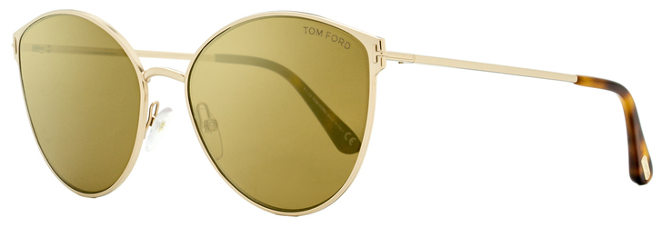 Tom Ford Cateye Sunglasses TF654 Zeila 28G Gold/Havana 60mm FT0654