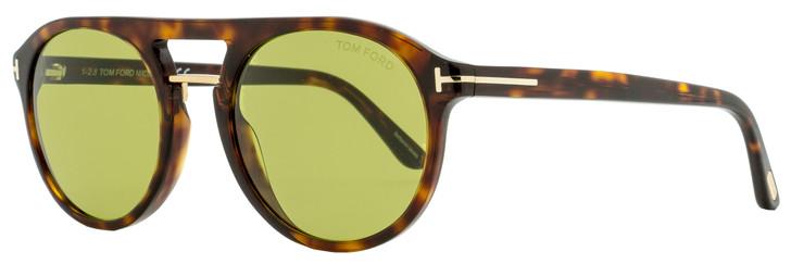 Tom Ford Pilot Sunglasses TF675 Ivan-02 54N Havana/Gold 54mm FT0675